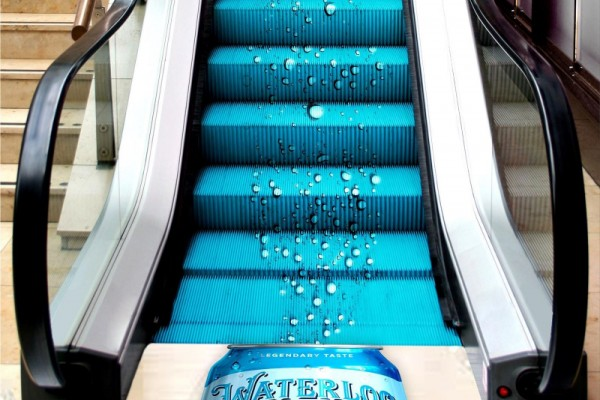 "Waterloo Sparkling Water ""Waterloo Bubble Escalator"""
