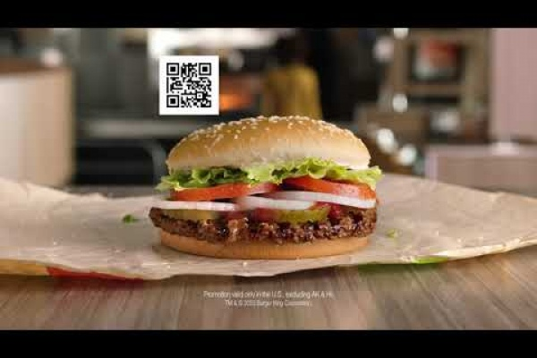 "Burger King ""QR Code"" Free Whopper"