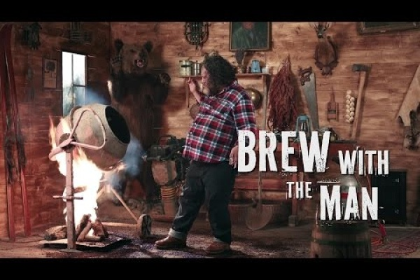 That's how a real MAN brews his own beer!