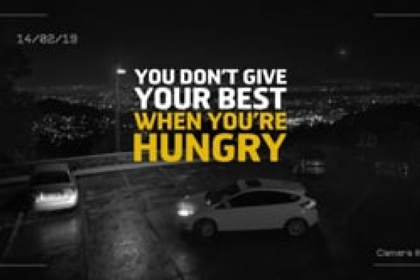 "Snickers ""You don't give your best when you're hungry"""