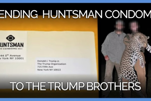 PETA Distributes 'Huntsman' Condoms to the Trump Brothers