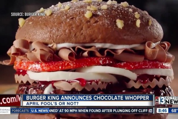 "Burger King ""Chocolate Whopper"""
