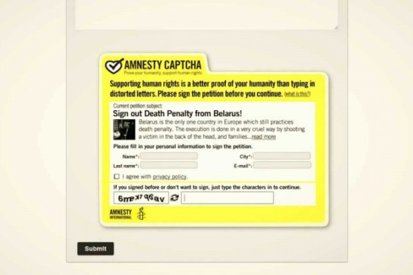 Amnesty International Captcha Case