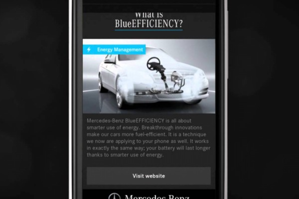 Mercedes-Benz BlueEFFICIENCY App