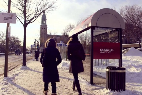 Duracell: surprise bus shelter